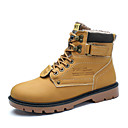 cheap Men's Boots-Men's Comfort Shoes Leather Winter Casual Boots Keep Warm Black / Yellow / Brown