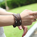 billige Herre Armbånd-Herre Retro Stilfuldt Vintage Armbånd Læder Armbånd - Læder Kreativ Stilfuld, Vintage, Punk Armbånd Brun Til Daglig Gade