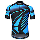 baratos Camisas Para Ciclismo-Arsuxeo Homens Manga Curta Camisa para Ciclismo - Azul Clássico Moto Camisa / Roupas Para Esporte, Tiras Refletoras Redutor de Suor 100% Poliéster