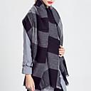 رخيصةأون ألبسة موحدة للعمل-مستطيل ألوان متناوبة نسائي - مكشكش أساسي / الخريف / الشتاء