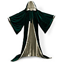 cheap Men's & Women's Halloween Costumes-Elf Pastor Coat Cosplay Costume Witch Broom Halloween Props Masquerade Men's Women's Adults Adults' Cosplay Lolita Medieval Christmas Halloween Carnival Festival / Holiday Satin Velvet Outfits Green