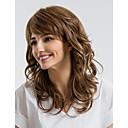 זול ללא מכסה-שיער ללא שיער שיער אנושי מתולתל תספורת אסימטרית שיער טבעי חום ללא מכסה פאה בגדי ריקוד נשים לבוש יומיומי