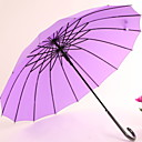 cheap Party Headpieces-Fabric / Stainless steel All Sunny and Rainy / New Design Straight Umbrella