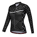 cheap Cycling Jerseys-WOSAWE Women's Long Sleeve Cycling Jersey - Black Polka Dot Bike Jersey Top Polyester / Stretchy / Advanced