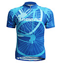 cheap Cycling Jerseys-Jaggad Men's Short Sleeve Cycling Jersey - Blue Stripe Bike Jersey Top, Breathable Quick Dry Polyester Elastane