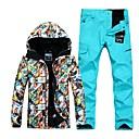 cheap Snowboard, Ski Helmets-GSOU SNOW Men's Ski Jacket with Pants Windproof Waterproof Warm Ski / Snowboard Winter Sports POLY Clothing Suit Ski Wear