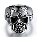 cheap Men's Rings-Men's Vintage Style Sculpture Ring - Stainless Skull Stylish, Vintage, Punk 9 / 10 / 11 / 12 Silver For Carnival Street
