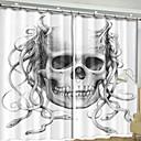 halpa Ikkunoiden verhot-Moderni 3D-verhot 2 paneeli Verho / Pimennys / Makuuhuone