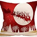 baratos Almofadas de Decoração-Fronha Natal / Férias Tecido Rectângular Festa / Novidades Decoração de Natal