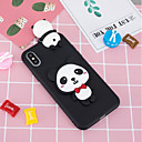 cheap Straps, Dangles, Charms-Case For Apple iPhone X / iPhone 8 Plus Pattern / DIY Back Cover Panda Soft TPU for iPhone X / iPhone 8 Plus / iPhone 8