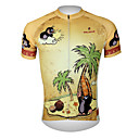 cheap Wall Stickers-ILPALADINO Men's Short Sleeve Cycling Jersey - Brown Animal Cartoon Bike Jersey Top, Breathable Quick Dry Ultraviolet Resistant 100% Polyester