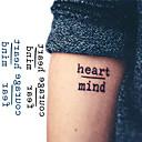 tanie Tatuaże tymczasowe-10 pcs Tatuaże tymczasowe Seria wiadomości Nowy design / Nowość Sztuka na ciele Twarz / Ramię / Nadgarstek / Naklejka tatuaż
