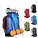 رخيصةأون ساعات ذكية-75 L حقائب ظهر / حقيبة الظهر - خفة الوزن, مكتشف الأمطار, التنفس إمكانية في الهواء الطلق المشي لمسافات طويلة, تخييم, السفر نايلون أحمر, أخضر, أزرق