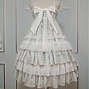 preiswerte Lolita Kleider-Lolita Kleid Niedlich Rüschenkleid Weiblich Ärmellose Kleider Cosplay Grün Genähte Spitzen Ärmellos Ärmellos Midi Kostüme