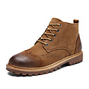 cheap Men's Boots-Men's Combat Boots Faux Leather Fall & Winter Casual Boots Gray / Yellow / Green