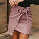 abordables Pendientes-Mujer Básico Corte Bodycon Faldas Un Color