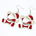 cheap Other Nail Tools-Women's Classic Drop Earrings - Santa Suits Sweet Black / Red For Christmas