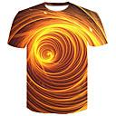 Χαμηλού Κόστους Αντρικά Βραχιόλια-Ανδρικά Μεγάλα Μεγέθη T-shirt Κλαμπ Κομψό στυλ street / Πανκ & Γκόθικ Συνδυασμός Χρωμάτων / 3D Στρογγυλή Λαιμόκοψη Στάμπα Κίτρινο XXL / Κοντομάνικο / Καλοκαίρι