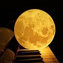 tanie Nowoczesne oświetlenie-3d księżyc lampa sypialnia regał noc światło kreatywnych nowy rok prezent na Boże Narodzenie
