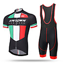cheap Cycling Jersey & Shorts / Pants Sets-XINTOWN Men's Short Sleeve Cycling Jersey with Bib Shorts - Black Bike Bib Shorts Jersey Breathable 3D Pad Quick Dry Ultraviolet Resistant Sweat-wicking Sports Lycra Patchwork Mountain Bike MTB Road