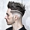 tanie Tupeciki-Męskie Włosy naturalne Tupeciki Prosta W 100% ręcznie wiązane / Siateczka z przodu Miękka
