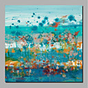 cheap Framed Oil Paintings-Oil Painting Hand Painted - Abstract / Landscape Comtemporary / Modern Stretched Canvas / Rolled Canvas