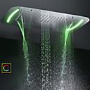 povoljno Ručni tuš-71x43 cm kupaonica tuš glava / od nehrđajućeg čelika 304 / suvremena / mjehurić rasplodnih kišnih slapova četiri funkcije / sa šarenim LED svjetlom promijenjenim zaslonom osjetljivim na dodir