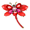 cheap Stuffed Animals-Women's Classic Brooches - Dragonfly, Animal European, Fashion Brooch Jewelry Red / Green / Royal Blue For Gift / Daily