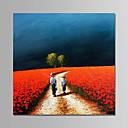 olcso Feszített vászonnyomat-Hang festett olajfestmény Kézzel festett - Landscape Modern Vászon