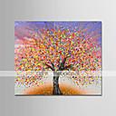 זול ציורים מופשטים-ציור שמן צבוע-Hang מצויר ביד - מופשט / פרחוני / בוטני מודרני בַּד