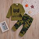 ieftine Set Îmbrăcăminte Băieți Bebeluși-Bebelus Băieți Casual / De Bază Zilnic / Concediu Imprimeu Manșon Lung Regular Regular Bumbac Set Îmbrăcăminte Verde Militar 100 / Copil