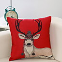 cheap Artificial Flower-Pillow Cover Holiday Cotton Fabric Party Christmas Decoration