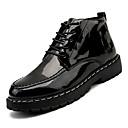 זול מגפיים לגברים-בגדי ריקוד גברים Fashion Boots PU סתיו יום יומי מגפיים נושם שחור