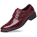 رخيصةأون أحذية أوكسفورد للرجال-رجالي أحذية الراحة جلد ظبي للربيع والصيف كلاسيكي / كاجوال أوكسفورد غير الانزلاق أسود / أحمر / أزرق / الحفلات و المساء