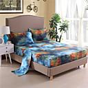 cheap Sheet Sets & Pillowcases-Polyester Printed 3D Print 1pc Flat Sheet / 1pc Fitted Sheet / 2pcs Pillowcases bedspread