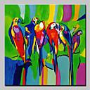 halpa Maisema maalaukset-Hang-Painted öljymaalaus Maalattu - Abstrakti / Pop Art Moderni Sisällytä Inner Frame / Venytetty kangas