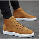 cheap Men's Boots-Men's Comfort Shoes Suede Fall & Winter Sneakers Black / Gray / Khaki