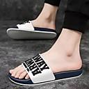 baratos Sandálias e Chinelos Masculinos-Homens Sapatos Confortáveis PVC Verão Chinelos e flip-flops Amarelo / Branco / Preto / Branco / azul
