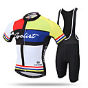 cheap Cycling Jersey & Shorts / Pants Sets-XINTOWN Men's Short Sleeve Cycling Jersey with Bib Shorts - Black Bike Bib Shorts / Jersey, Breathable, 3D Pad, Quick Dry, Ultraviolet Resistant, Sweat-wicking Lycra Patchwork / Stretchy