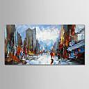 halpa Abstraktit maalaukset-Hang-Painted öljymaalaus Maalattu - Maisema Moderni Ilman Inner Frame / Valssatut kankaat