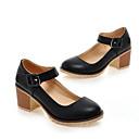 ieftine Ceasuri La Modă-Pentru femei Pantofi de confort PU Primăvară Tocuri Toc Îndesat Alb / Negru / Roz