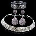 billige Smykkesett-Dame Lag-på-lag Smykkesett - Luksus, Elegant Inkludere Brude smykker sett Hvit Til Bryllup Fest