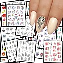 cheap Nail Stickers-48 pcs Water Transfer Sticker Flower / Butterfly nail art Manicure Pedicure Multi Function / Best Quality Romantic / Ethnic Daily