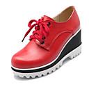 ieftine Ceasuri La Modă-Pentru femei Pantofi de confort PU Vară Oxfords Creepers Alb / Negru / Rosu