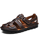 cheap Decorative Objects-Men's Comfort Shoes Nappa Leather Summer / Winter Classic / Casual Sandals Breathable Black / Coffee