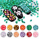 cheap Nail Kits & Sets-Glitter Powder Sequins 3D Interface / Eco-friendly / New Design Flower Series Romantic Series nail art Manicure Pedicure PVC(PolyVinyl Chloride) Stylish / Sweet Special Occasion / Daily