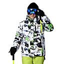 זול ביגוד לסקי וסנובורד-Wild Snow בגדי ריקוד גברים ג'קט לסקי עמיד, חם, אוורור סקי / ספורט רב פעילותי / ספורט שלג פוליאסטר מעילי פוך ביגוד סקי
