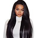 tanie Peruki z włosów ludzkich-Włosy naturalne remy 360 Przednie Peruka Włosy brazylijskie Prosta Jasnobrązowy Peruka 150% Gęstość włosów z Baby Hair Jedwabisty Naturalna linia włosów Dla czarnoskórych kobiet Bielone Węzły
