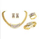 billige Motearmbånd-Dame Klassisk Smykkesett - Gullbelagt Luksus, Unikt design, trendy Inkludere Brude smykker sett Gull Til Fest Gave