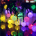 cheap LED String Lights-40led blue solar led light fairy string christmas party